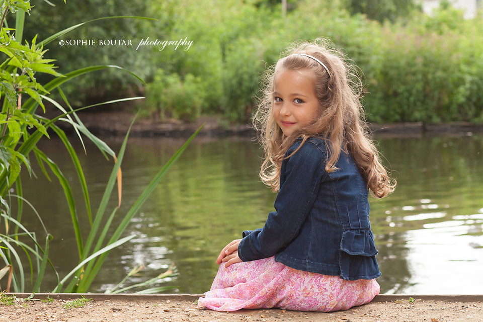 Girl by Barnes pond