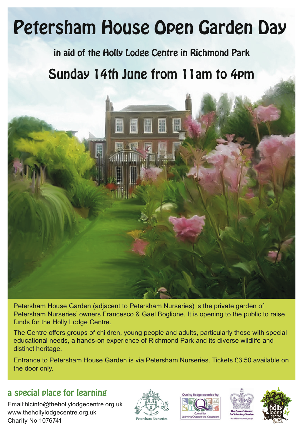 petersham house open garden in aid of holly lodge centre