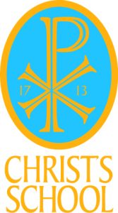 Christs Blue Yellow Logo With Text