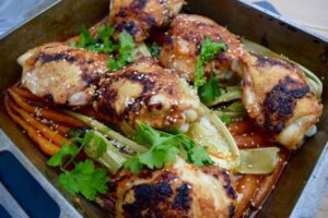 Chicken-roasted-carrot-sesame-recipe-lucyloves-foodblog