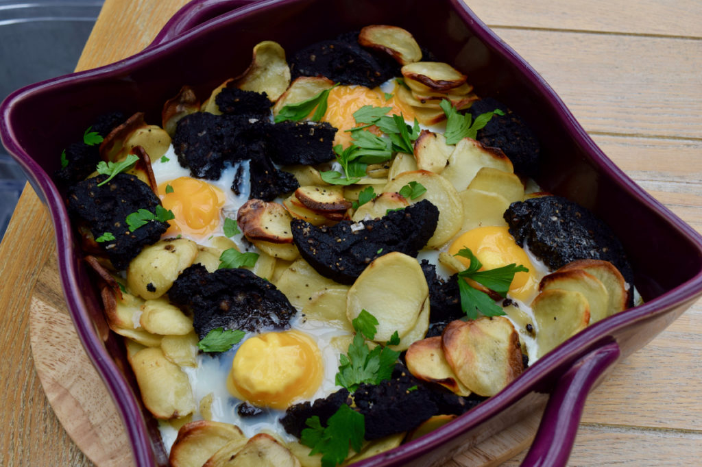 Black Pudding, Potato and Egg Bake recipe from Lucy Loves