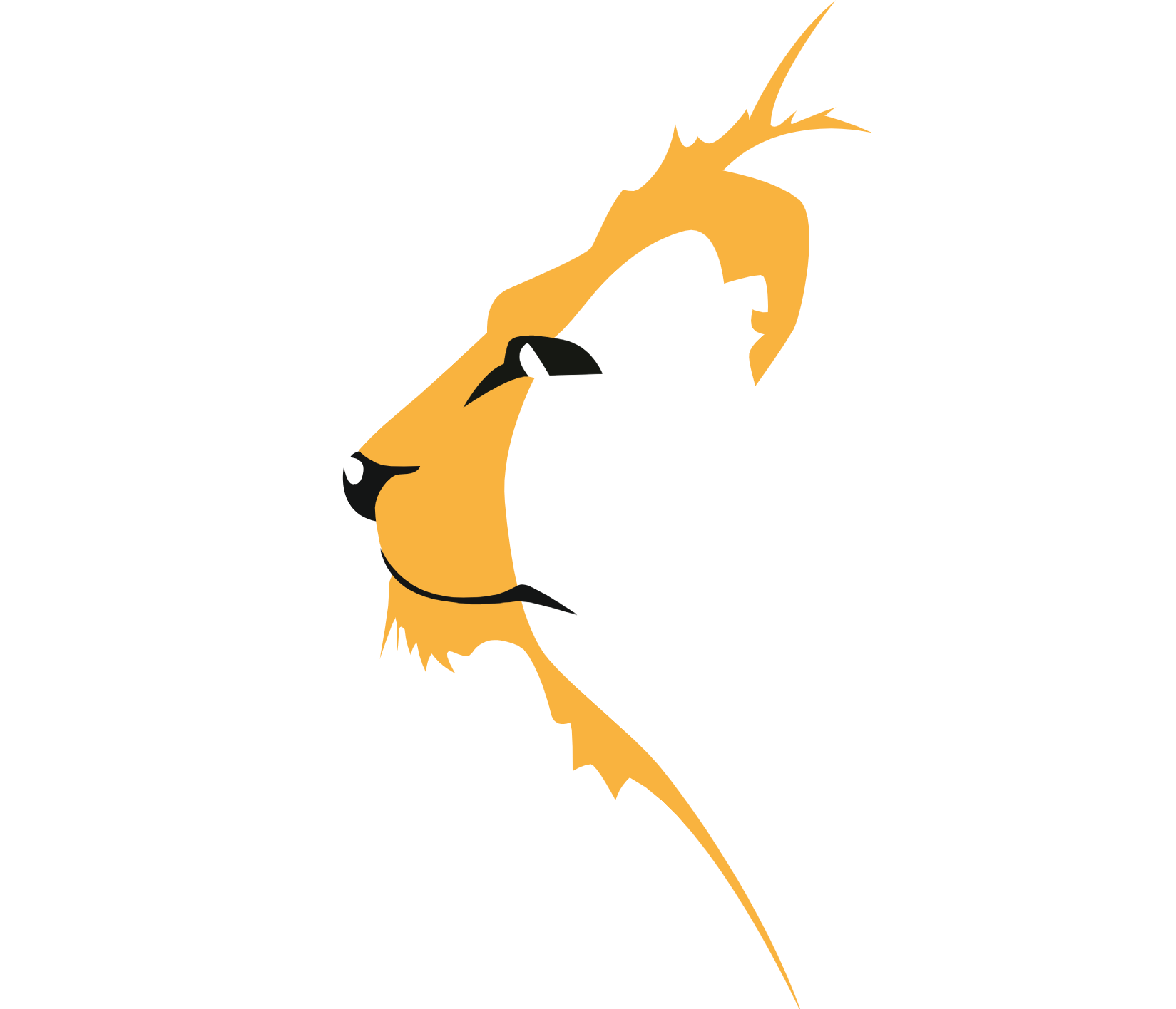 Thomson House School Logo in the shape of a lion's head in profile