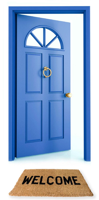 Open outside. Door clipart free clip