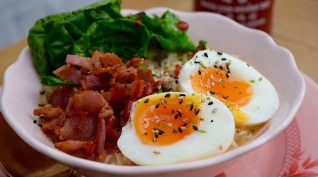 Egg-bacon-ramen-noodles-recipe-lucyloves-east-sheen-village