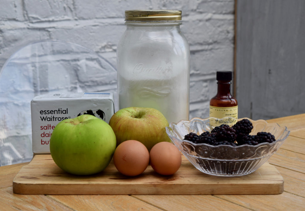 Apple and Blackberry Snow recipe from Lucy Loves Food Blog