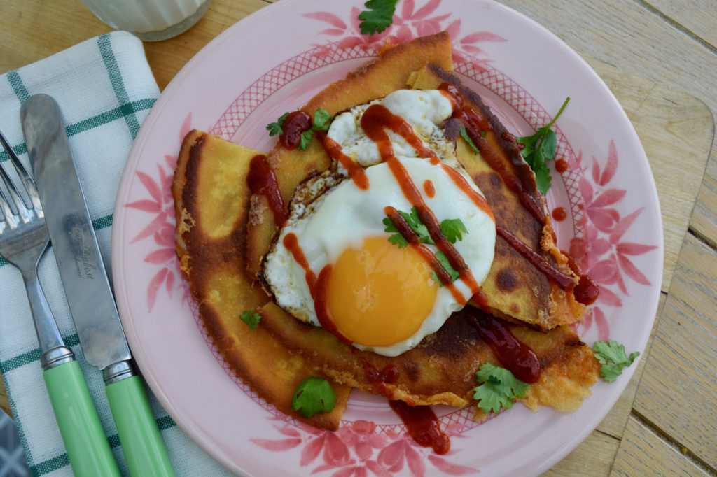 Fried Egg Quesadillas from Lucy Loves Food Blog