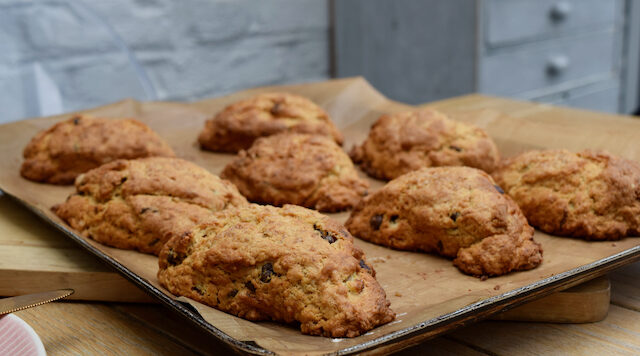 Brown Sugar Banana Scones recipe from Lucy Loves Food Blog